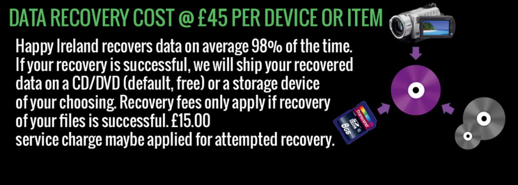 Data recovery price Happy ireland productions