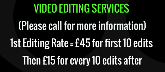 Video editing prices